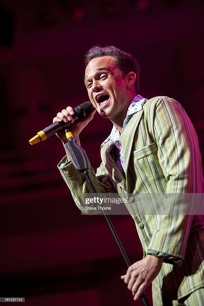 Gareth Gates performs on stage as part of Boogie Nights at Symphony Hall on February 9, 2013 in Birmingham, England.