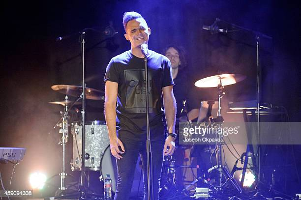 Gareth Gates performs on stage at O2 Islington Academy on November 16 2014 in London United Kingdom