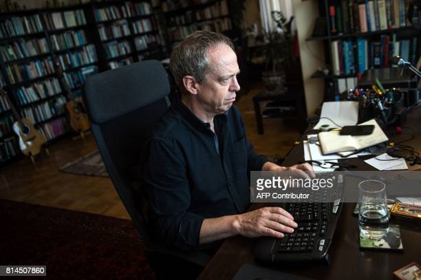 Gareth Jenkins Istanbulbased nonresident senior research fellow at the Silk Road Studies Program poses on July 6 2017 during an interview in Istanbul...