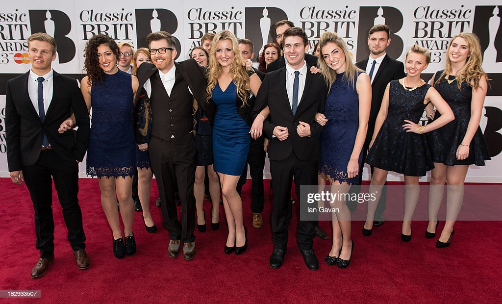 Gareth Malone's 'Voices' attend the Classic BRIT Awards 2013 at the Royal Albert Hall on October 2, 2013 in London, England.