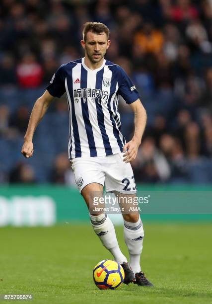 Gareth McAuley of West Bromwich Albion during the Premier League match between West Bromwich Albion and Chelsea at The Hawthorns on November 18 2017...