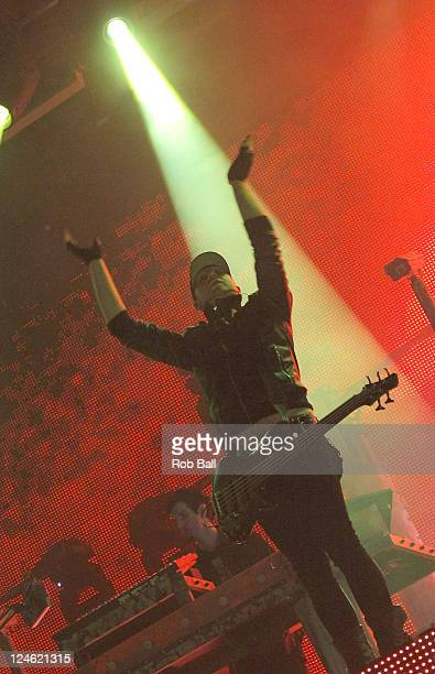 Gareth McGrillen of Pendulum performs on day two of Bestival at Robin Hill Country Park on September 9 2011 in Newport Isle of Wight