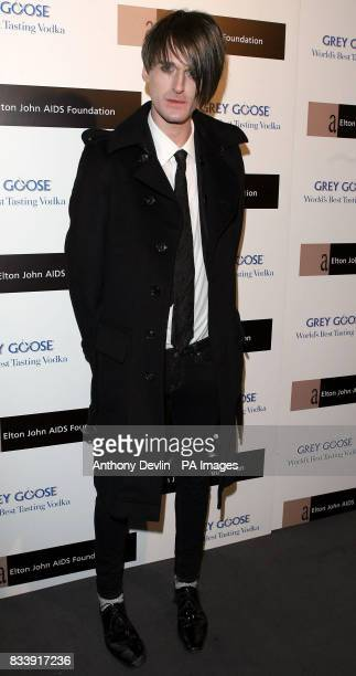 Gareth Pugh arrives at the Grey Goose Vodka and The Elton John AIDS Foundation VIP launch party One Piazza Covent Garden London