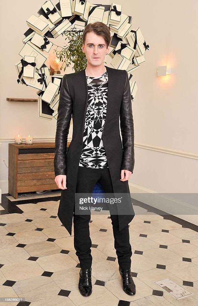 Gareth Pugh attends Jo Malone's Thoroughly Proper Party at Jo Malone London, Gloucester Place on December 12, 2012 in London, England.