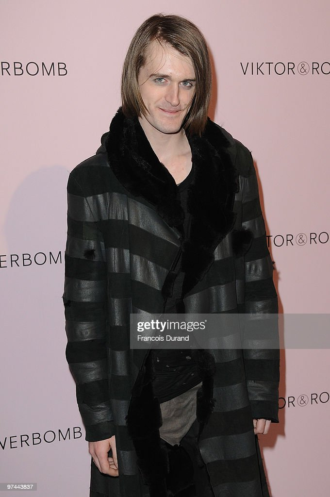 Gareth Pugh attends the Victor & Rolf 'Flower Bomb' 5th Anniversary during Paris Fashion Week at Hotel Meurice on March 4, 2010 in Paris, France.
