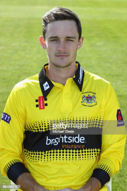 Gareth Roderick of Gloucestershire in the NatWest T20 Blast kit during the Gloucestershire County Cricket photocall at The Brightside Ground on April...