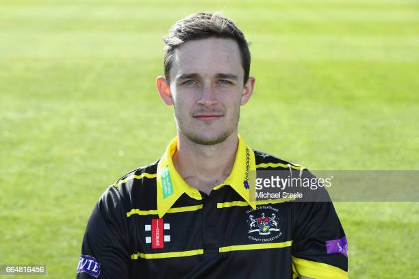 Gareth Roderick of Gloucestershire in the Royal London One Day kit during the Gloucestershire County Cricket photocall at The Brightside Ground on...