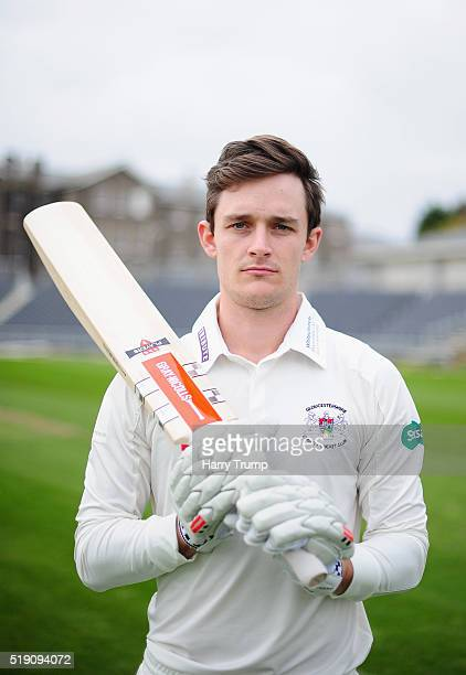 Gareth Roderick of Gloucestershire poses during the Gloucestershire CCC Photocall at the County Ground on April 4 2016 in Bristol England