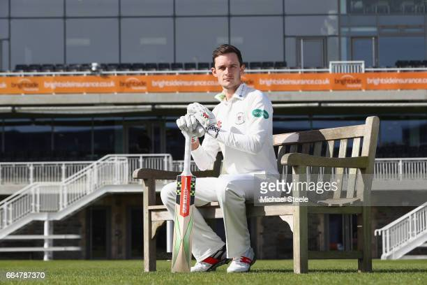 Gareth Roderick the captain of Gloucestershire poses in the Specsavers County Championship kit during the Gloucestershire County Cricket photocall at...