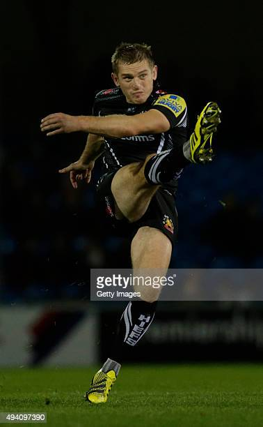Gareth Steenson of Exeter Chiefs in action during the Aviva Premiership Match at Sandy Park on October 24 2015 in Exeter England