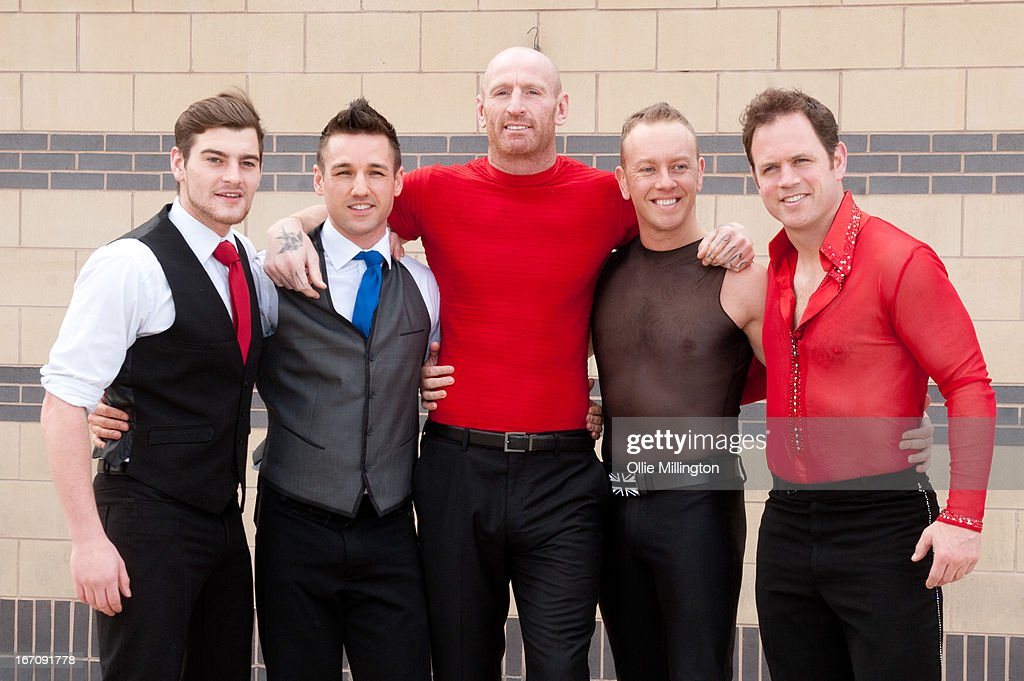 <a gi-track='captionPersonalityLinkClicked' href=/galleries/search?phrase=Gareth+Thomas+-+Rugby+Player&family=editorial&specificpeople=210696 ng-click='$event.stopPropagation()'>Gareth Thomas</a>, Daniel Whiston and Kyran Bracke attend a photocall for Celebritiess on Ice hours before the first show on the opening weekend was called off due to the ice in the arena melting. on April 19, 2013 in Birmingham, England.