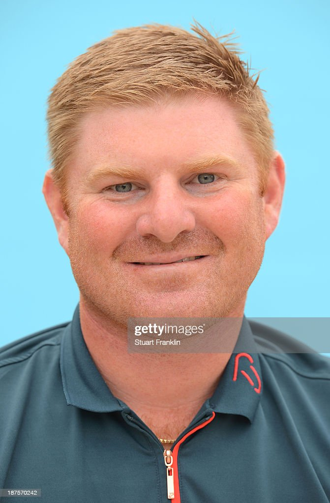 Gareth Wright of Wales poses for a photograph during the first round of European Tour qualifying school final stage at PGA Catalunya Resort on November 10, 2013 in Girona, Spain.