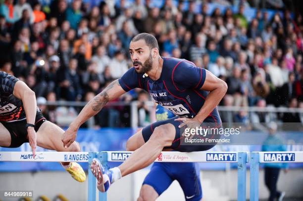 Garfield Darien of France competes in 110m hurdles during the DecaNation 2017 on September 9 2017 in Angers France