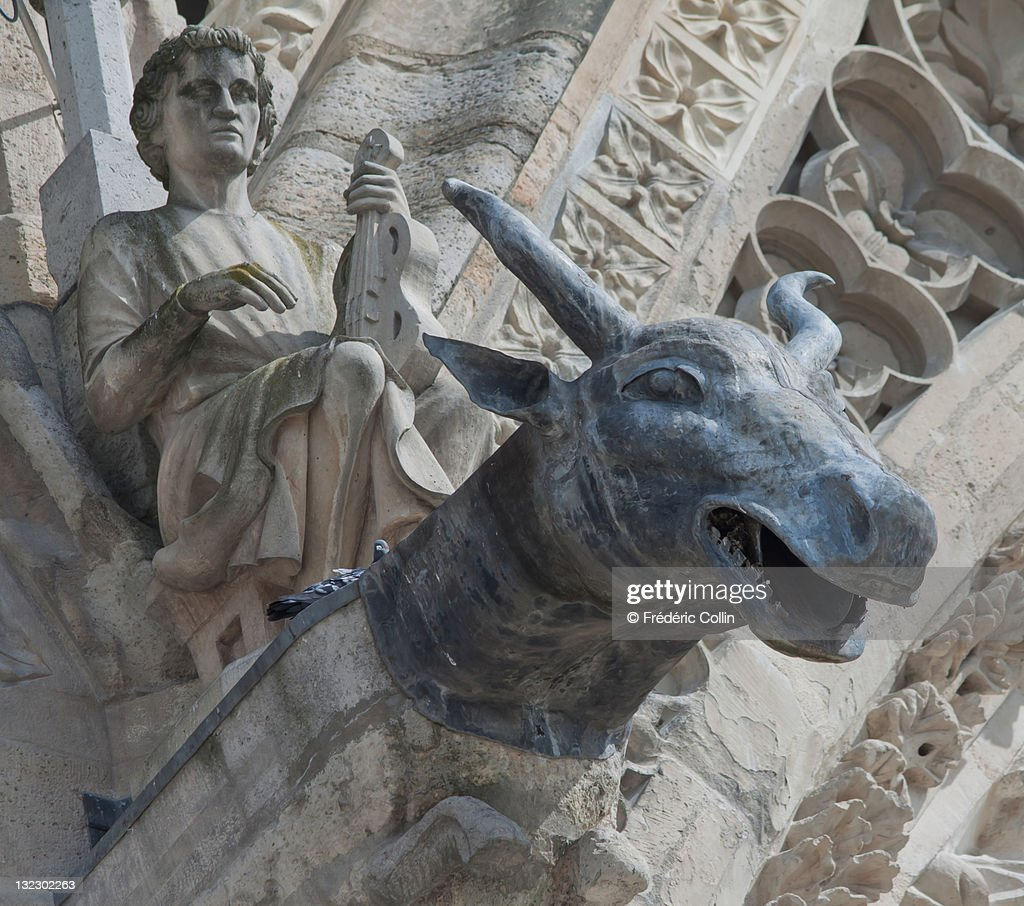 Gargoyle in Reims Cathedral : Stock Photo