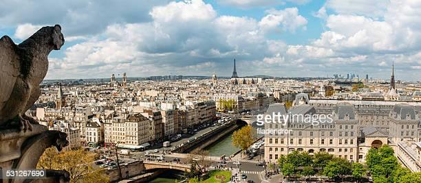 Gargouille sur la cathédrale Notre-Dame de Paris, France