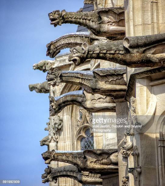 Gargoyles, Palais de Justice, Rouen France