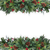 Garland frame isolated on white