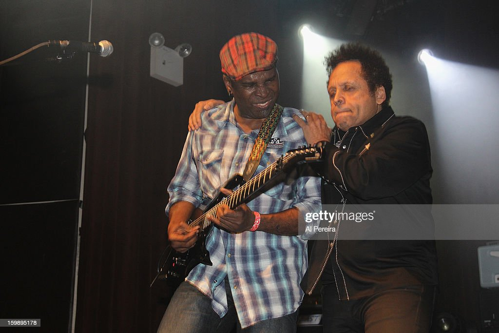 Garland Jeffreys joins Living Colour during The Million Man Mosh II at the Highline Ballroom on January 21, 2013 in New York City.