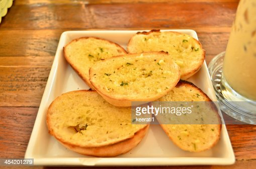 Garlic and herb bread. : Stock Photo