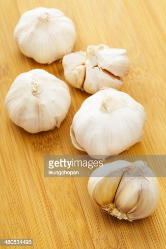 Garlic close up : Stock Photo