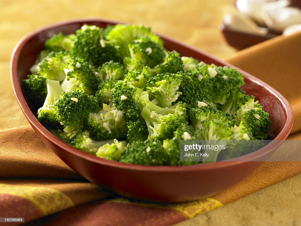 Garlic Seared Broccoli : Stock Photo