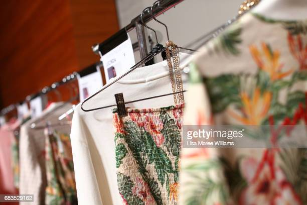 Garments are seen backstage ahead of the HANSEN GRETEL show at MercedesBenz Fashion Week Resort 18 Collections at Carriageworks on May 16 2017 in...