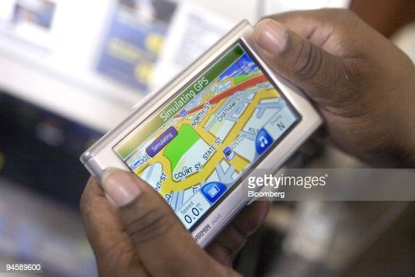 A Garmin Gps Device Displays Navteq Software At A Best Buy S Pictures Getty Images
