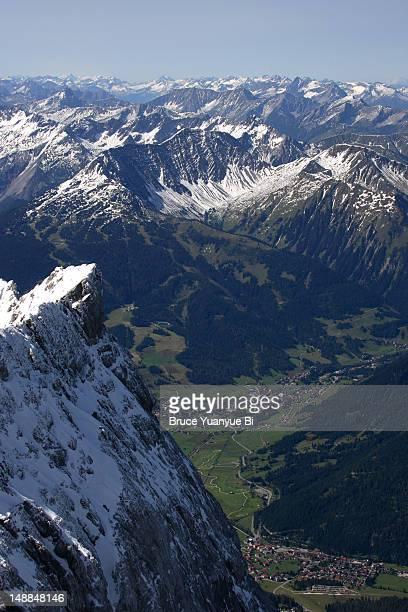 Garmisch-Partenkirchen from Zugspitze.