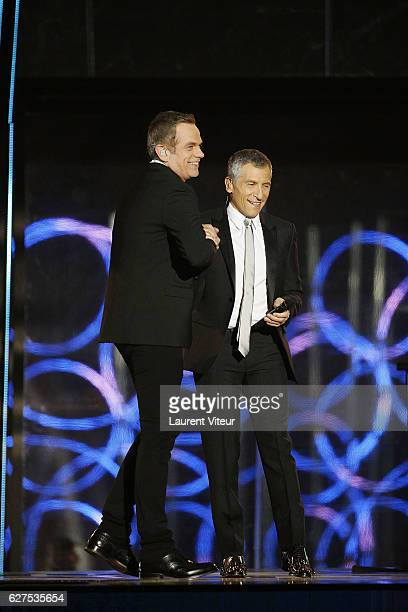 Garou and Nagui attend 30th Telethon at Hippodrome de Longchamp on December 3 2016 in Paris France