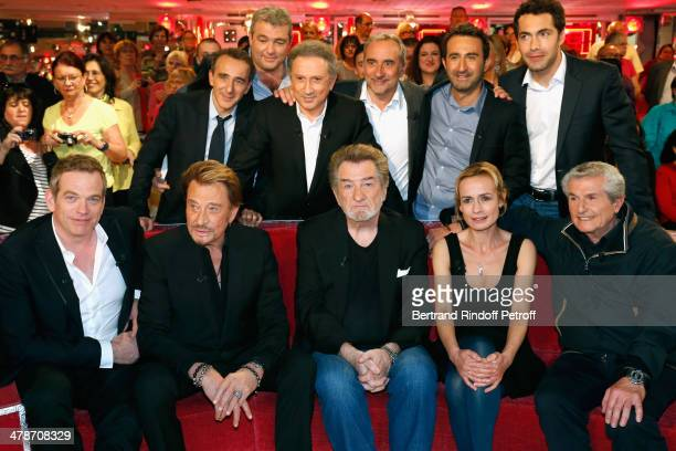 Garou Johnny Hallyday Eddy Mitchell Sandrine Bonnaire Claude Lelouch Elie Semoun Laurent Gamelon Michel Drucker Antoine Dulery Mathieu Madenian and...