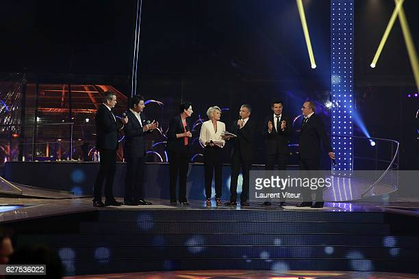 Garou Philippe Lelouche Presidente of AFM Laurence TiennotHerment Sophie Davant Nagui Vincent Niclau and Antoine Dulery attend 30th Telethon at...