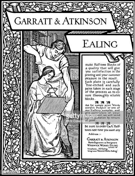 Garratt Atkinson advert 1907 From The British Printer Vol XX [Raithby Lawrence Co Ltd London and Leicester 1907] Artist Garratt Atkinson