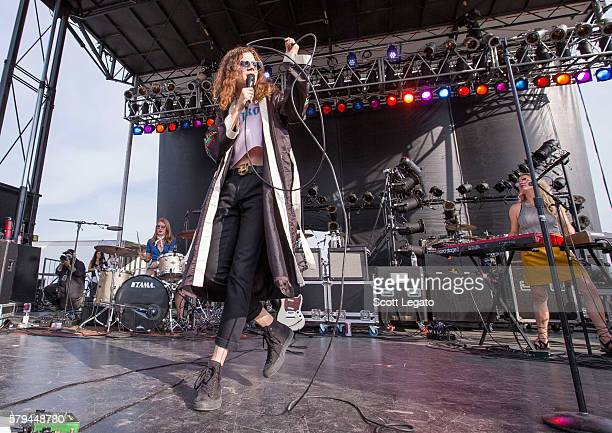 Garret Borns of Borns performs during the Mo Pop Festival at West Riverfront Park on July 23 2016 in Detroit Michigan