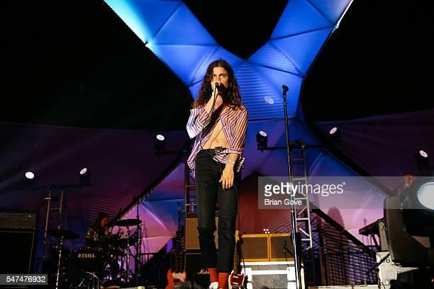 Garret Borns performs at The Twilight Concert Series at the Santa Monica Pier on July 14 2016 in Santa Monica California