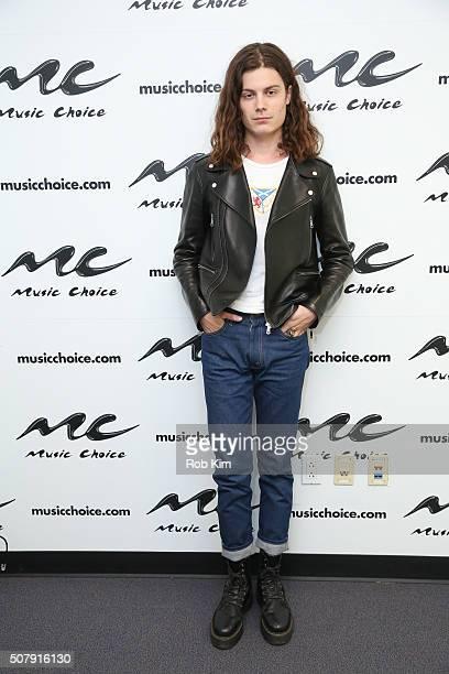 Garrett Borns aka Borns visits at Music Choice on February 1 2016 in New York City