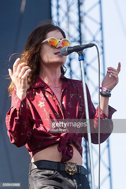 Garrett Borns of BORNS performs onstage at the Sasquatch Music Festival at the Gorge Amphitheatre on May 30 2016 in George Washington