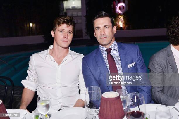 Garrett Hedlund and Jon Hamm attend Esquire Celebrates September Issue's 'Mavericks of Style' Presented by Hugo Boss at Chateau Marmont on September...