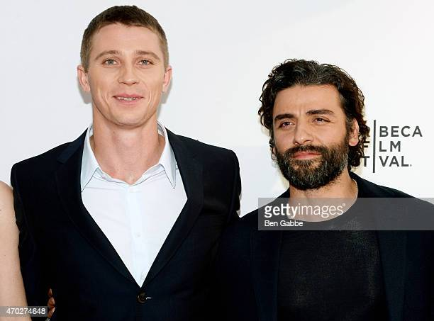 Garrett Hedlund and Oscar Isaac attend the premiere of 'Mojave' during the 2015 Tribeca Film Festival at the SVA Theater on April 18 2015 in New York...