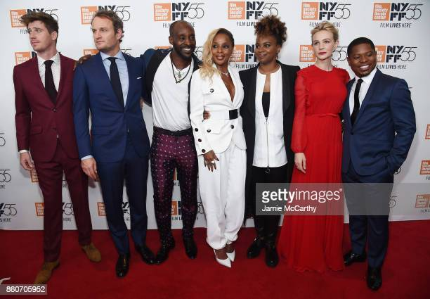Garrett Hedlund Jason Clarke Rob Morgan Mary J Blige Dee Rees Carey Mulligan and Jason Mitchell attend the 'Mudbound' premiere during the 55th New...