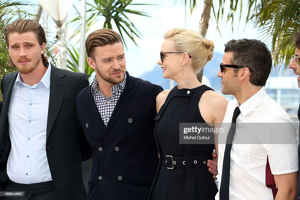 Garrett Hedlund, Justin Timberlake, Carey Mulligan and Oscar Isaac attend the 'Inside Llewyn Davis' photocall during the 66th Annual Cannes Film Festival at the Palais des Festivals on May 19, 2013 in Cannes, France.