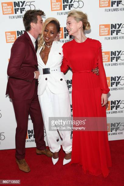 Garrett Hedlund Mary J Blige and Carey Mulligan attend the 'Mudbound' screening during the 55th New York Film Festival at Alice Tully Hall on October...