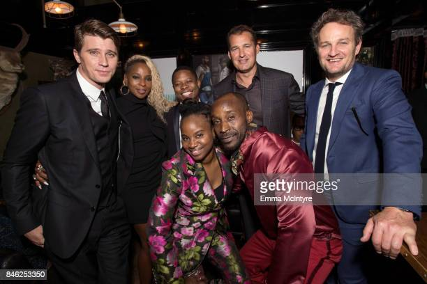 Garrett Hedlund Mary J Blige Jason Mitchell Dee Rees Rob Morgan Netflix's Scott Stuber and Jason Clarke attend the Mudbound afterparty following the...