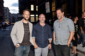 Garrett McLaughin David Baker and Tyler Hays attend Tom Dixon Celebrates New Store with Howard Street Party at The Shop New York on July 19 2016 in...