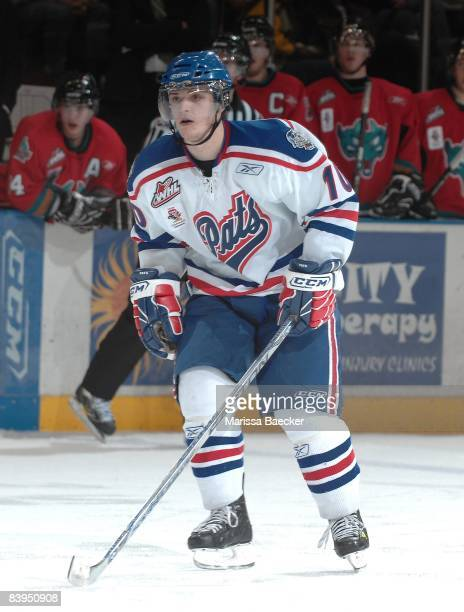 Garrett Mitchell of the Regina Pats skates against the Kelowna Rockets on December 5 2008 at Prospera Place in Kelowna Canada