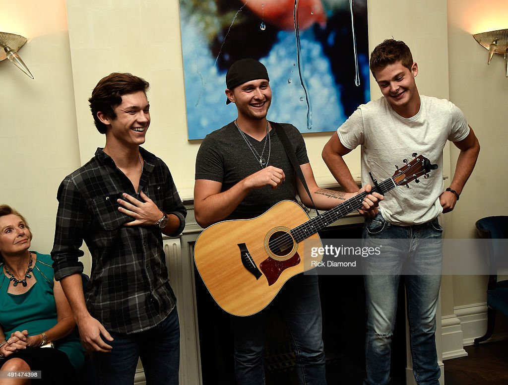 Garrett Nichols Jared Keim and Zach Beeken of Restless Road performs as Nancy Jarecki and Jamie Tisch Host Benefit In Support Of The Country Music...