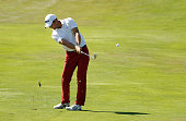 Garrett Rank hits his second shot on the 16th hole during the second round of the RBC Canadian Open at Glen Abbey Golf Club on July 22 2016 in...