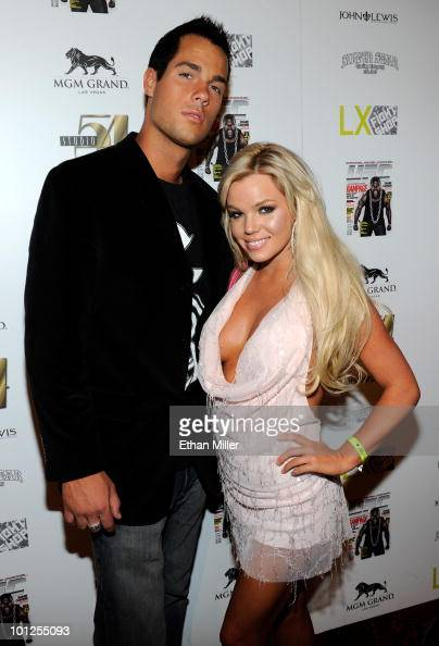 Garrett Szalkowski and DJ Colleen Shannon arrive at the official Silver Star Casting Co and UFC magazine preparty for UFC 114 at Studio 54 inside the...