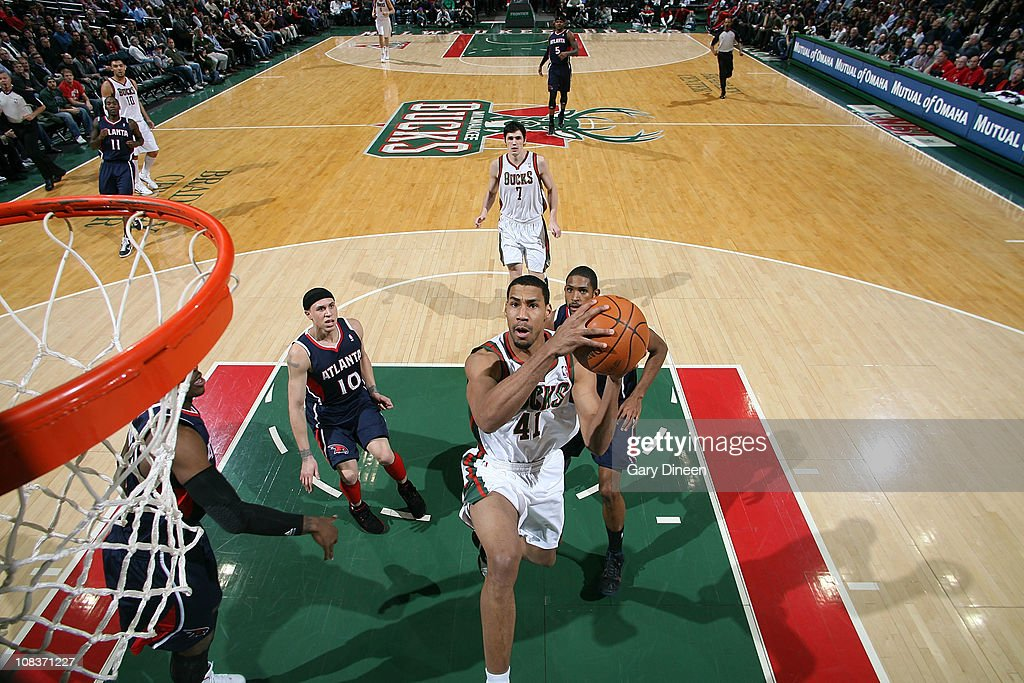 Garrett Temple #41 of the Milwaukee Bucks shoots a layup against the Atlanta Hawks during the NBA game on January 26, 2011 at the Bradley Center in Milwaukee, Wisconsin.