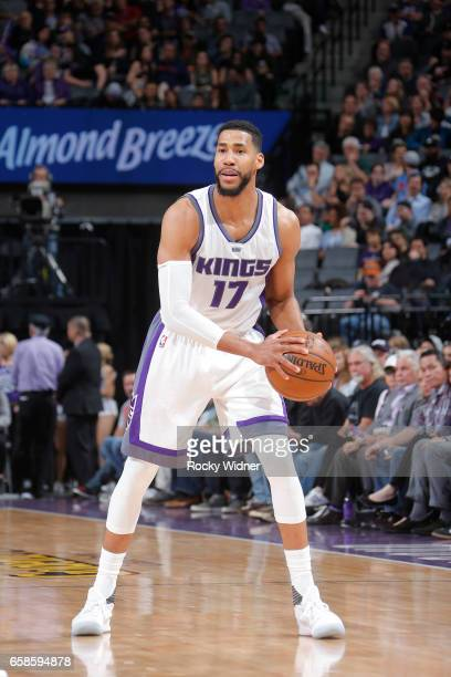Garrett Temple of the Sacramento Kings looks to pass the ball during a game against the Memphis Grizzlies on March 27 2017 at Golden 1 Center in...
