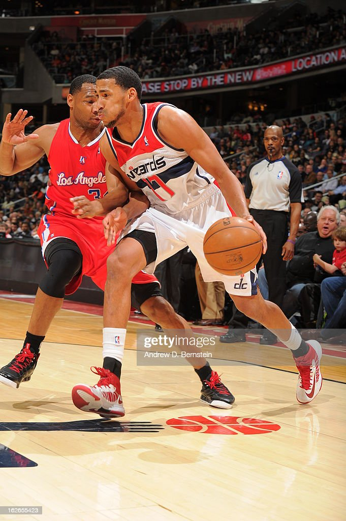 <a gi-track='captionPersonalityLinkClicked' href=/galleries/search?phrase=Garrett+Temple&family=editorial&specificpeople=709398 ng-click='$event.stopPropagation()'>Garrett Temple</a> #17 of the Washington Wizards drives to the basket against the Los Angeles Clippers on February 4, 2013 at the Verizon Center in Washington, DC.